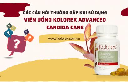Câu hỏi thường gặp khi sử dụng viên uống Kolorex Advanced Candida Care